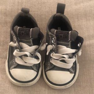 Converse gray slip on sneakers